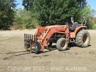 Kubota 4740 HST Loader Tractor with Forklift Attachment