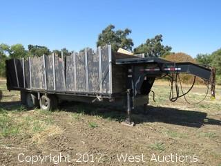 2002 Trailer Man 20,000LB Capacity 24' Tilt Bed Equipment Trailer