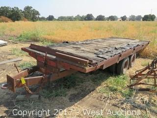 Custom 22' High Capacity Dual Tandem Axel Tilt Bed Equipment Trailer