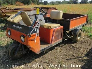 Jacobsen Gasoline Cart with Electric Tilt Bed (Not Running)