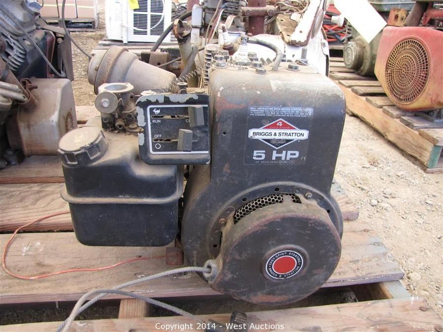 Briggs And Stratton Engine >> West Auctions - Auction: Trucks, Trailers and Heavy Construction Equipment ITEM: Briggs and ...