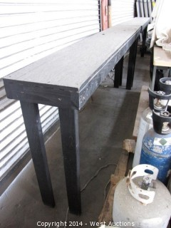 (3) Counter Height Wood Benches
