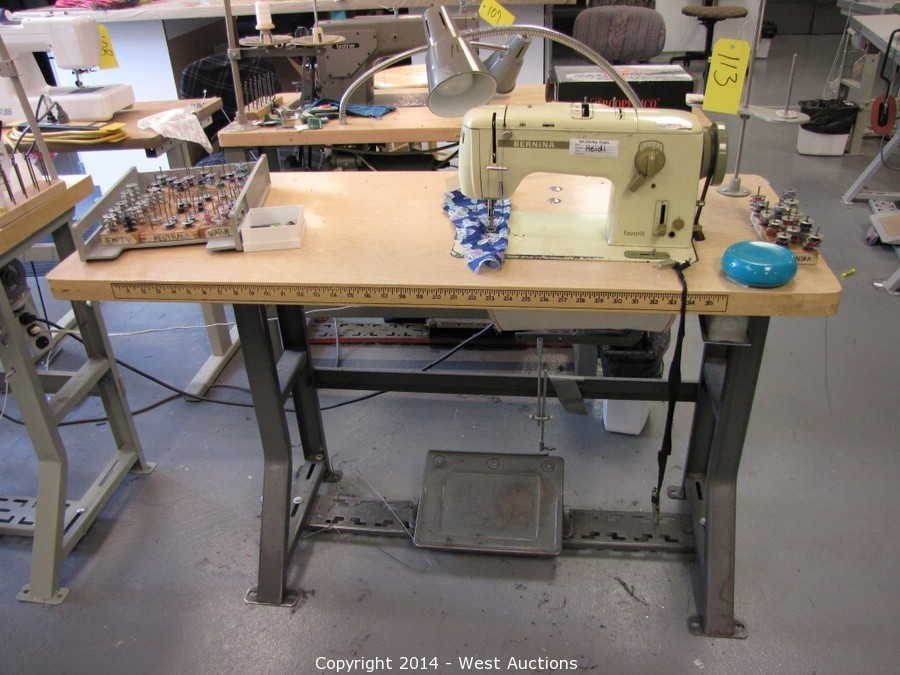West Auctions Auction Contents Of Downtown San Jose Repertory Mesmerizing Bernina Sewing Machine Model History