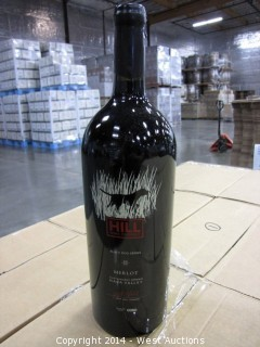 (5.5) Cases of 1.5L Bottles of 2010 Hill Wine Company Black Dog Napa Merlot (SKU 855147003019)