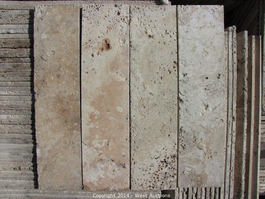 West Auctions Auction Closeout Auction Of Granite Slabs Marble - Closeout travertine tile