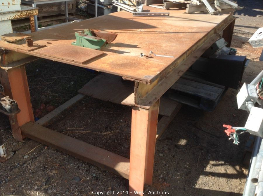 West Auctions Auction Surplus Auction Of Construction Tools And - 4x8 steel table