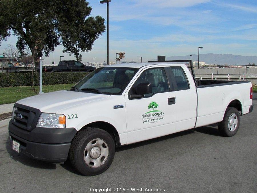West Auctions Auction Bankruptcy Auction Of  Ford Trucks Pickups And Cargo Trailers From San Jose Landscaper Item  Ford F  Xl Supercab Long