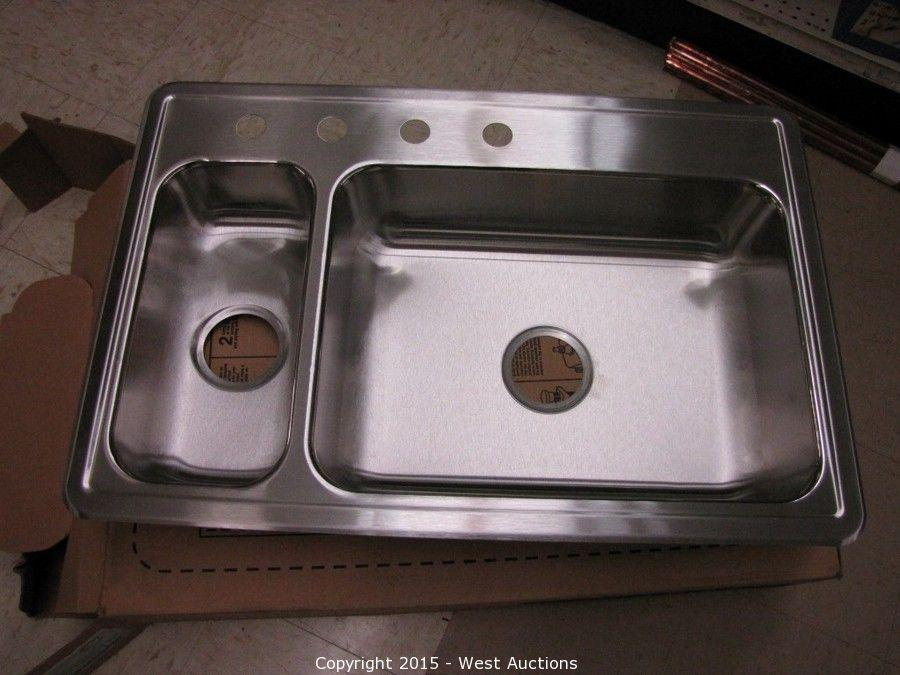 West Auctions Auction Foothill Ace Hardware Store Auction 1 Of 2 Item Sterling Stainless Steel Two Basin Kitchen Sink