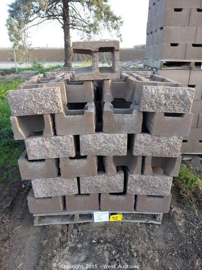 West auctions auction stone pavers concrete blocks for Split face block house