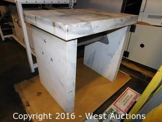 Lot #0132 Heavy Duty Marble Balance Table