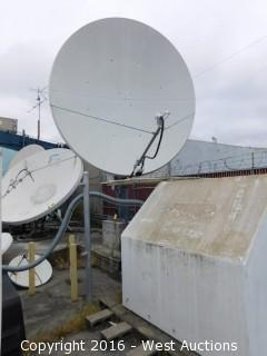 Large Satellite Dish with Codan L-Band IF LBUC