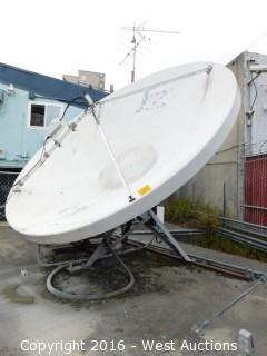 Large Satellite Dish with Codan 5900 Ku-Band Converter