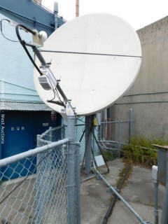 Large Satellite Dish with Codan 5900 Ku-Band Converter/Receiver