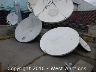 (5) Small Satellite Dishes
