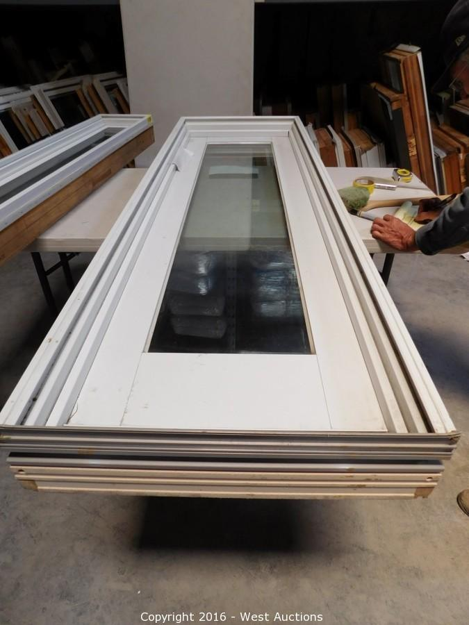 andersen patio doors with sidelights blinds surplus auction 2 doors and windows u2039u203a west auctions auction windows item
