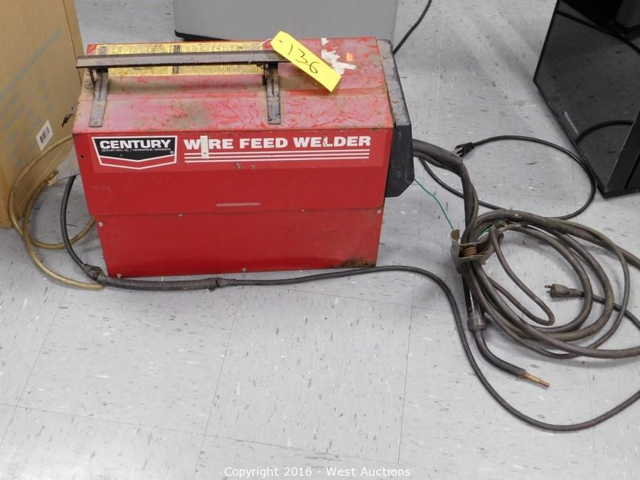 West Auctions Auction Complete Liquidation Of Sacramento Warehouse Item Century 130 Mig Wire Feed Welder