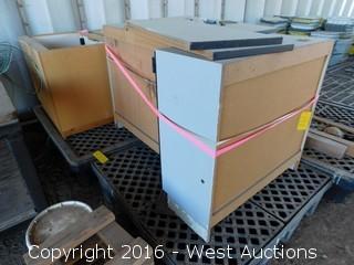 (5) Wood Cabinets