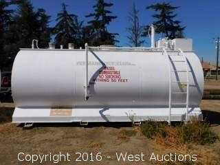Sannipoli Tank Corp 3,000 Gallon Above Ground UL 2085 Fuel Tank