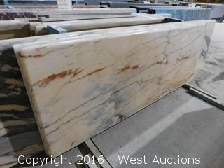 "(1) 88.5""x26"" Pre-Fabricated Marble Countertop"