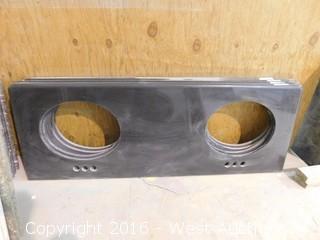 """(1) 62""""x22.5"""" Granite Vanity Dual Sink Countertop"""