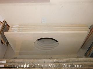 "(1) 51""x23"" Granite Vanity Sink Countertop"