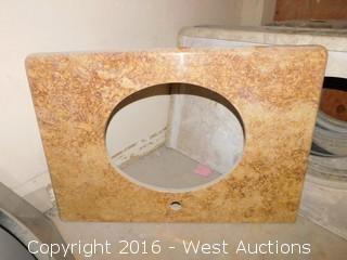 "(1) 32""x23"" Granite Vanity Sink Countertop"