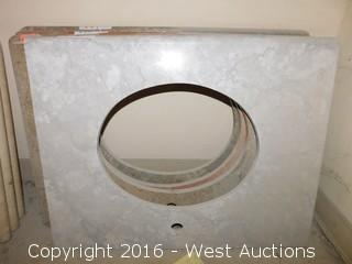 "(1) 29.5""x23"" Granite Vanity Sink Countertop"