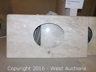 "(1) 44""x23"" Granite Vanity Sink Countertop"