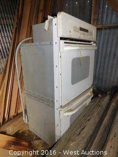 General Electric Upper and Lower Oven Combo