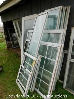 (9) Aluminum Double Paned Windows