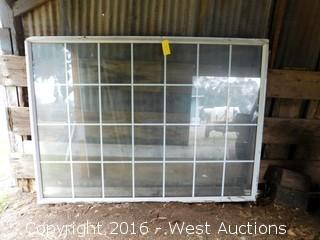 7'x5' Aluminum Double Paned Window