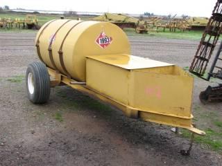 300 Gallon Fuel Tank on Single Axle Trailer