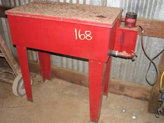 Parts washer on stand