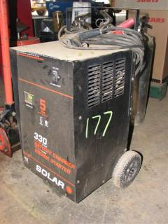 Battery Charger and Engine Starter on Cart