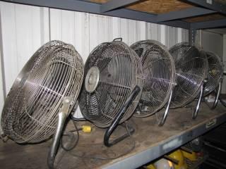 (5) 20' Electric Shop Fans