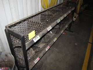 Black Metal Racking and Contents