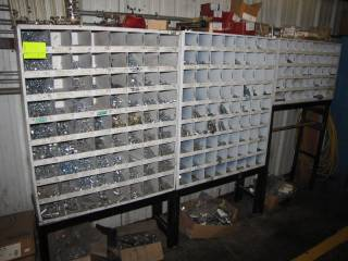 Nut / Bolt Case W/ Contents and, Wire Spools For Lincoln Welders