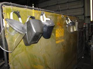 (4) Protective Sceens, (3) Safety Face Shields, and (1) Welding Mask