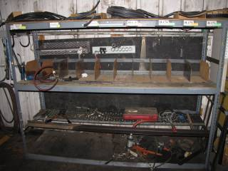 Metal Rack and Contents