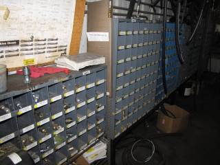 (6) Metal Box Racks W/ Multiple Sizes of Fittings and Couplers