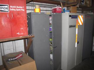 (4) Metal Cabinets and Contents