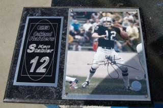 Ken Stabler Oakland Raiders Plaque