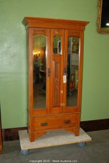 Vintage 2 Door Walnut Robe (Armoire)