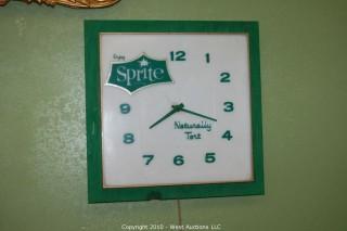 """Vintage """"Sprite"""" Wall Clock"""