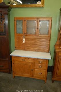 Vintage Oak Sellers Hoosier