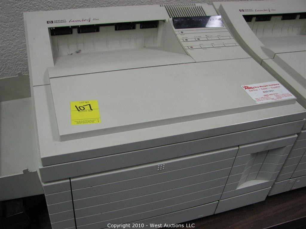 west auctions auction california land title company of nevada county item hp laserjet 4 plus. Black Bedroom Furniture Sets. Home Design Ideas