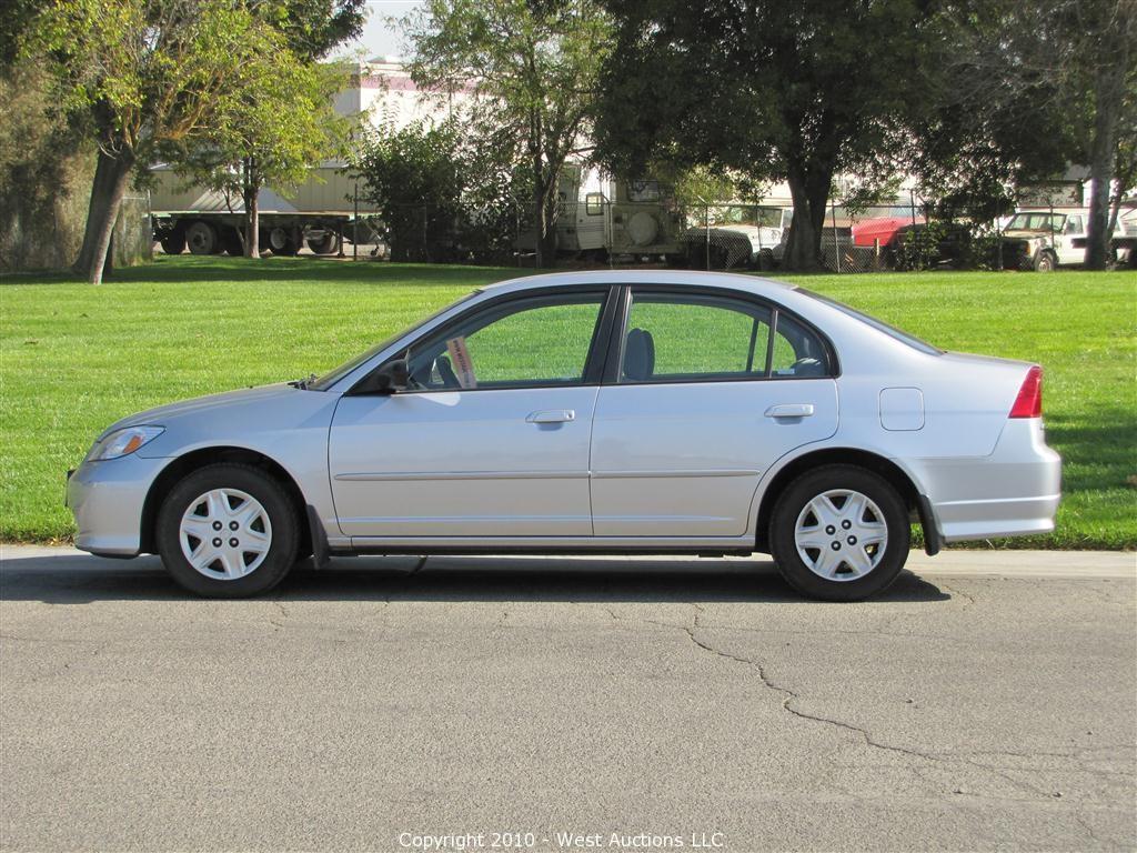 West Auctions Auction 2005 Honda Civic Lx 4 Door Sedan Item 2005 Honda Civic Lx 4 Door Sedan