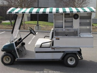 CarryAll Club Cart Complete with Luncheon Cart