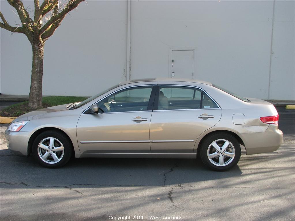 03 Honda Accord >> West Auctions Auction 2003 Honda Accord Ex Sedan Item