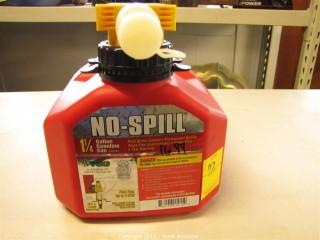 No-Spill Gas Can - 1.25 Gallon